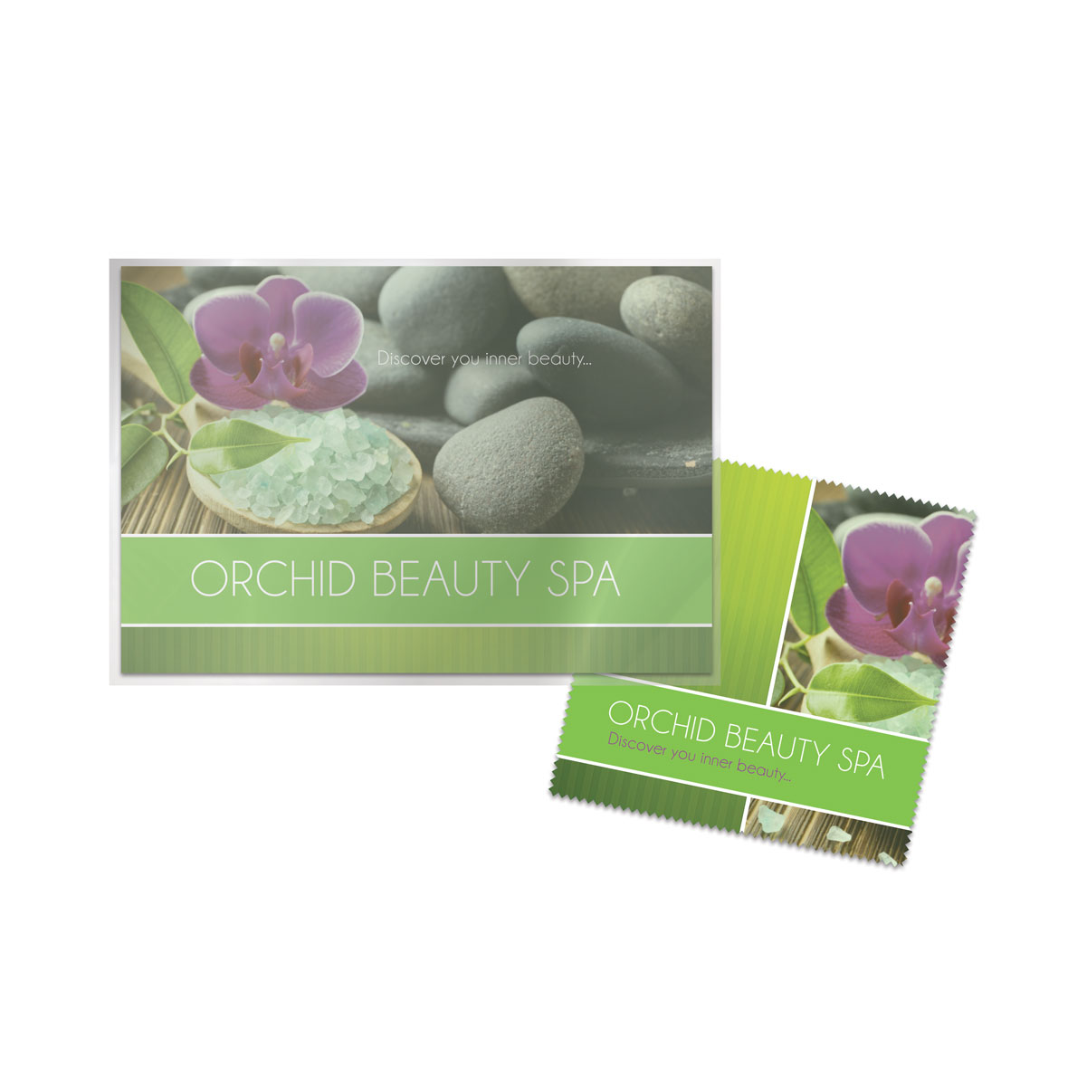 Full Color (4CP) - Microfiber Cloth + Direct Mailer Postcard