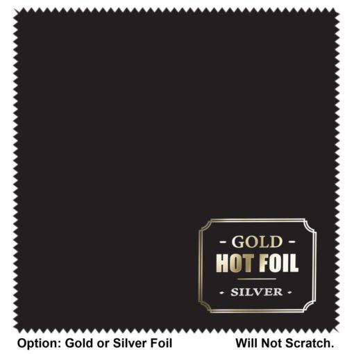 "Ultimate Luxury 5""x 5"" Hot Foil MicroFiber Cloth - Will not scratch"