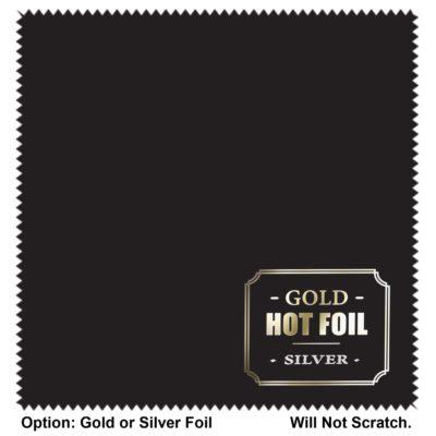 "Ultimate Luxury 6""x 8"" Hot Foil MicroFiber Cloth - Will not Scratch"