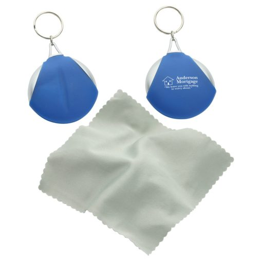 Pocket Microfiber Lens Cloth Key Chain