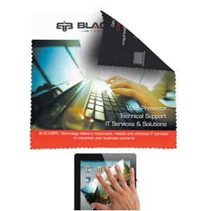 """5""""x""""5 Double Sided Full Color Sublimation Imprinted Microfiber Cleaning Cloth (Overseas)"""