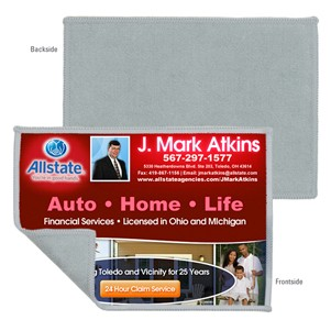 """5""""x7"""" 2-in-1 Full Color Sublimation Microfiber Cleaning Cloth and Towel"""