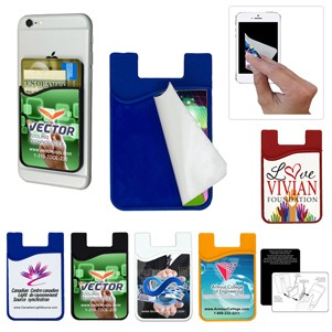 Phone Wallet with Detachable Microfiber Cleaning Cloth