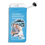 "3"" x 6"" - Full Color Sublimation Imprinted Microfiber Cell Phone and Accessories Drawstring Pouch"