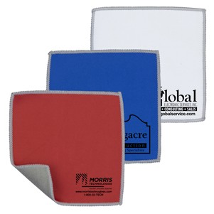 "6"" x 6"" - ""DoubleSide"" 2-in-1 Spot Color Microfiber Cleaning Cloth & Towel(Overseas)"