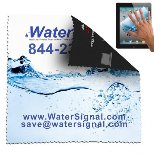 """6"""" x 6"""" - """"Havasu L"""" Double Sided Full Color Sublimation Imprinted Microfiber Cleaning Cloth"""