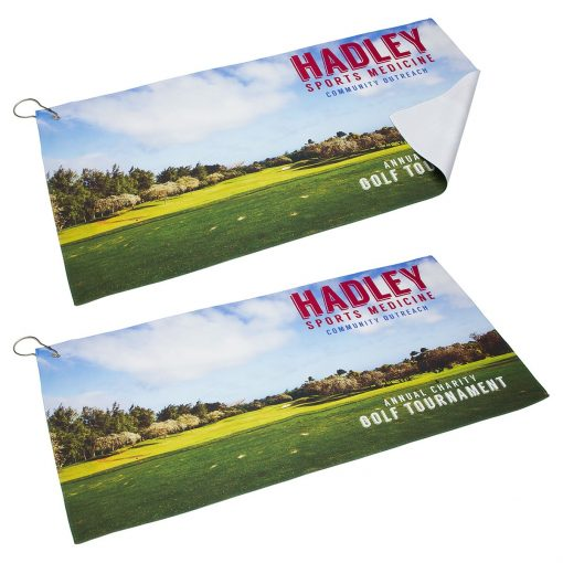 "12"" x 24"" 200GSM Premium Microfiber Towel with Metal Hook"