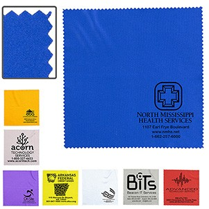 """6""""x 6"""" """"OneCleanScreen"""" 100% Microfiber Cleaning Cloth & Screen Cleaner"""